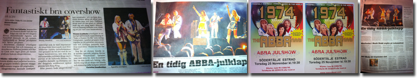 1974 Abba Tribute Show Rock Snowy Sweden Banner